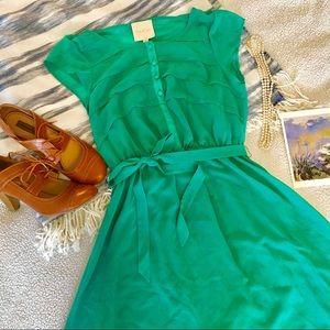 ModCloth Green Retro Style Dress